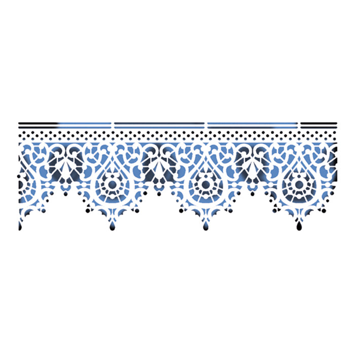 Stamperia Stencil - Flexible transparent 38x15cm - Lace KSB158