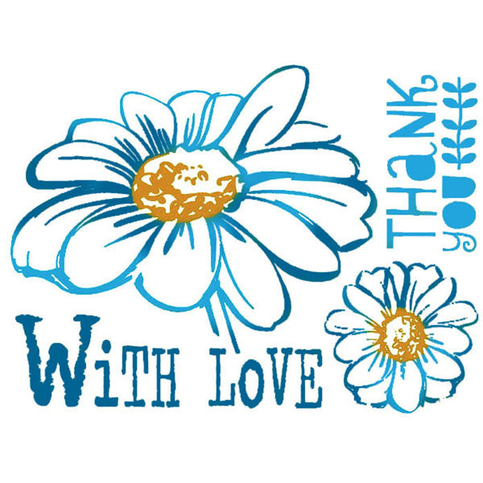 Stamperia Stencil - Flexible transparent 20x15cm - With Love