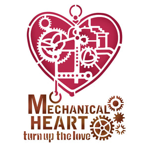 Stamperia Stencil - Flexible transparent 20x15cm - Mechanical Heart