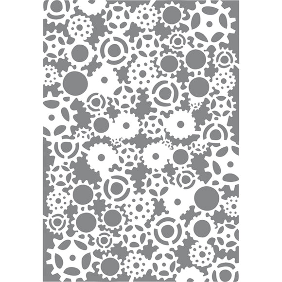 Stamperia Stencil - Flexible transparent 21x29,7cm -Cogs- KSG313
