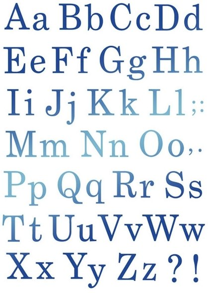 Stamperia Stencil - Flexible transparent 21x29,7cm -Alphabet- KSG327, Craft Measuring & Marking Tools by The Craft House