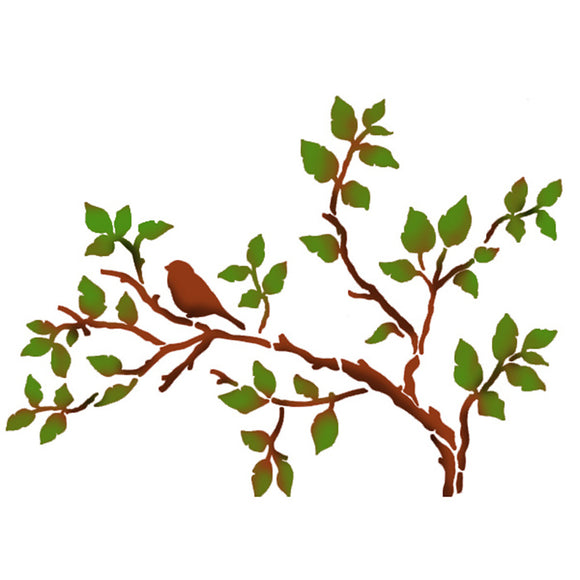 Stamperia Stencil - Flexible transparent 21x29,7cm -Tree Birdie- KSG352