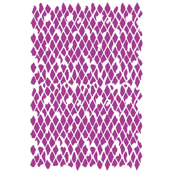 Stamperia Stencil - Flexible transparent 21x29,7cm -Distress Harlequin- KSG355