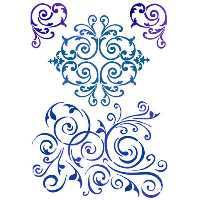 Stamperia Stencil - Flexible transparent 21x29,7cm -Swirl Patterns- KSG359, Craft Measuring & Marking Tools by The Craft House