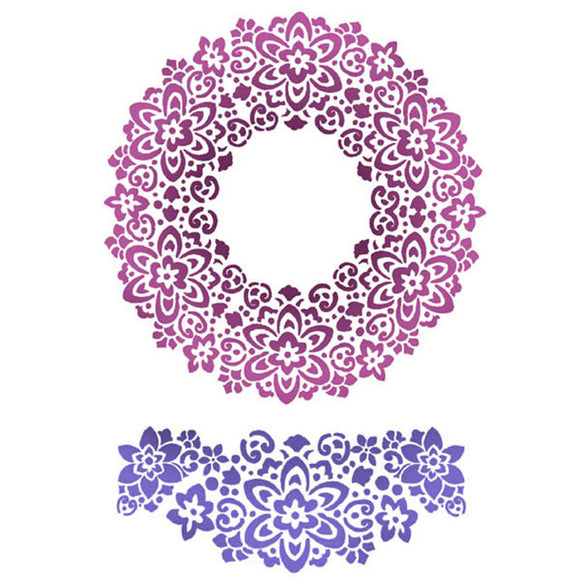 Stamperia Stencil - Flexible transparent 21x29,7cm -Circle Flowers- KSG363