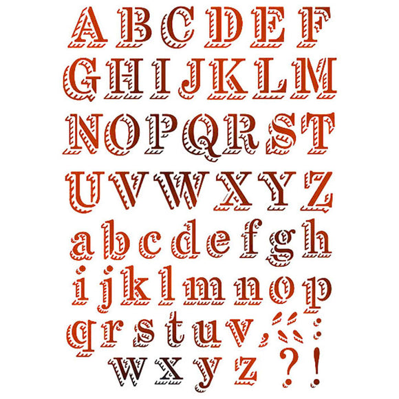Stamperia Stencil - Flexible transparent 21x29,7cm -Fairground Alphabet- KSG380