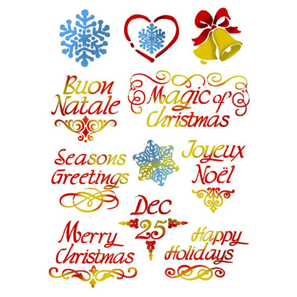 Stamperia Stencil - Flexible transparent 21x29,7cm -Merry Christmas- KSG383