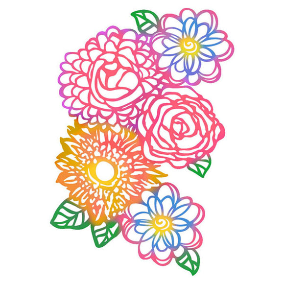 Stamperia Stencil - Flexible transparent 21x29,7cm -Doodle Flowers- KSG389