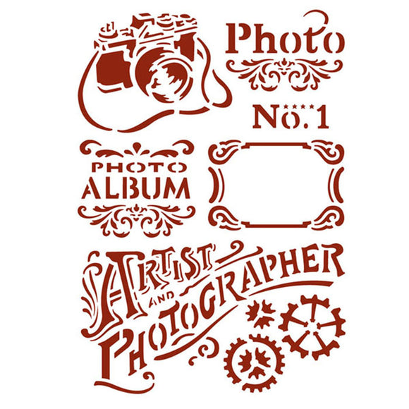 Stamperia Stencil - Flexible transparent 21x29,7cm -Photography- KSG394