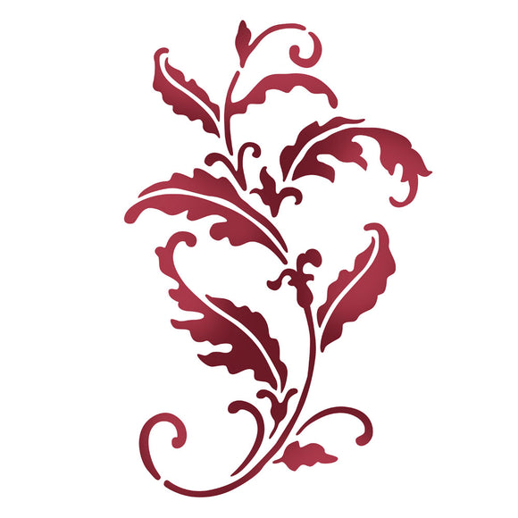 Stamperia Stencil - Flexible transparent 21x29,7cm -Leaf Flourish- KSG410