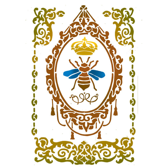 Stamperia Stencil - Flexible transparent 21x29,7cm -Bee Frame- KSG413