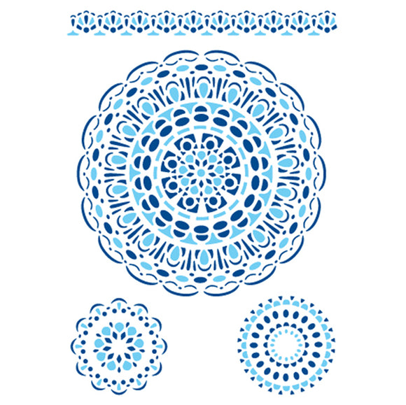 Stamperia Stencil - Flexible transparent 21x29,7cm - Lace Circles - KSG97