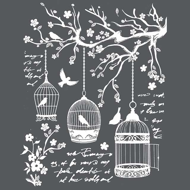 Stamperia Stencil - Thick Stencil -20 x25cm Little Cages KSTD040, Craft Measuring & Marking Tools by The Craft House