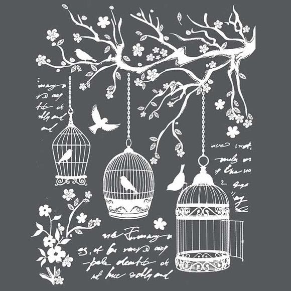 NEW Stamperia Stencil - Thick Stencil -20 x25cm Little Cages KSTD040