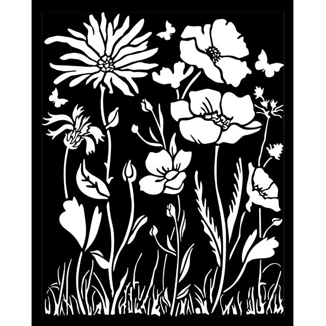 New Stamperia Stencil - Thick Stencil -20 x25cm Atelier Poppy KSTD072, Craft Measuring & Marking Tools by The Craft House