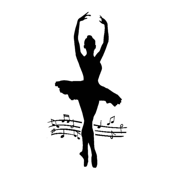 NEW Stamperia Stencil - Thick Stencil -12 x25cm Dancer - DaliART