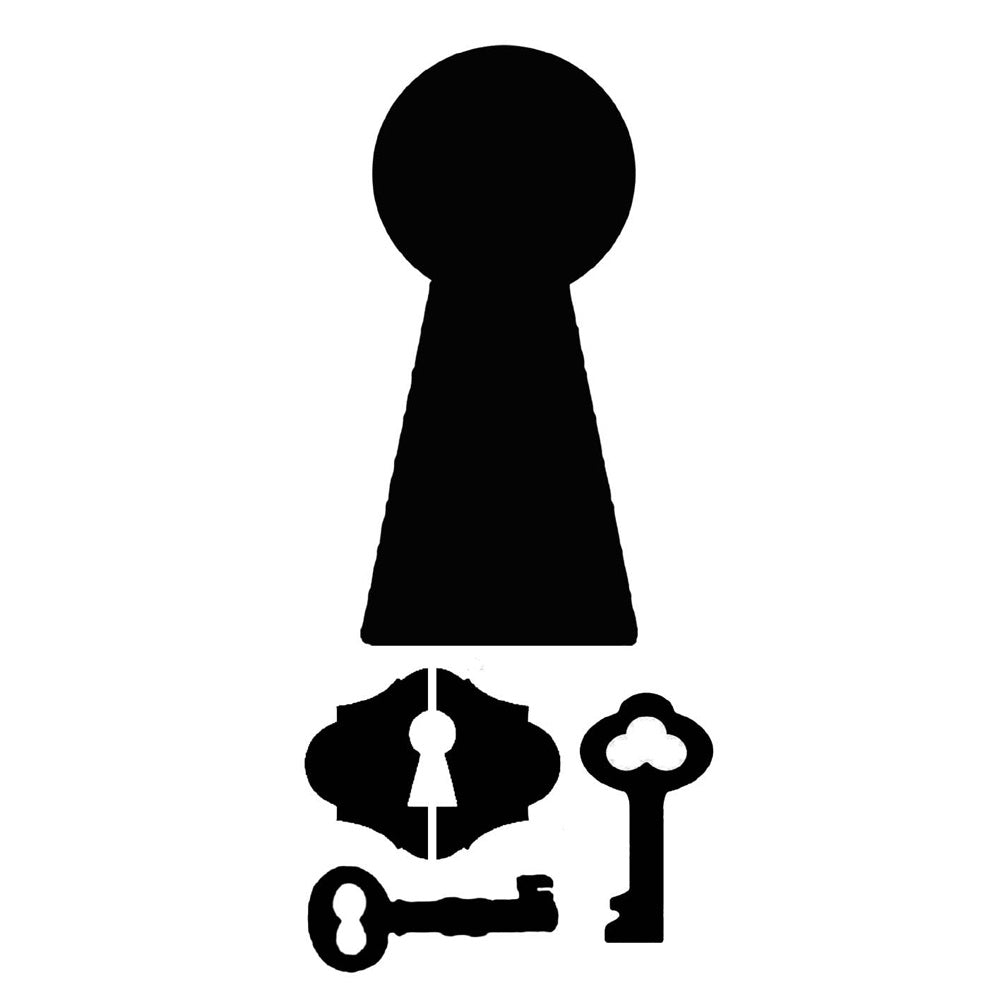 Stamperia Stencil - Thick Stencil -12 x25cm Locks & Keys