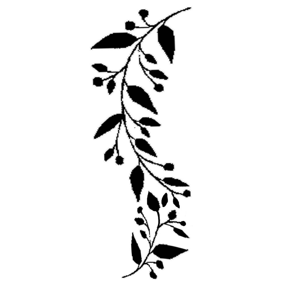 Stamperia Stencil - Thick Stencil -12 x25cm Edge with Leaves, Art & Crafting Tools by The Craft House