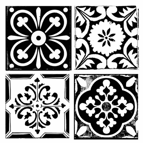 NEW Stamperia Stencil - Thick Stencil -18 x18cm - Tile