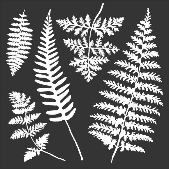 Pre Order NEW Stamperia Stencil - Thick Stencil -18 x18cm - Leaves -KSTDQ28