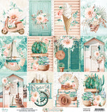 "NEW Mintay 12x12"" Scrapbooking Paper Set with Bonus Sheet - Suntastic- MTSUN07"