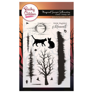 Becky Seddon 'Magical Sunset Silhouettes' A6 Clear Stamp Set - DaliART