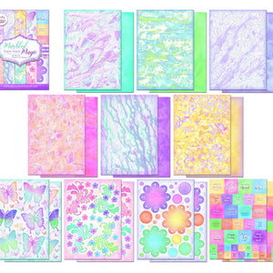 Becky Seddon Marbled Magic- A4 Double - Sided Paper Stack - DaliART