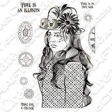 Load image into Gallery viewer, ShokART Mechanical Maiden A5 Stamp