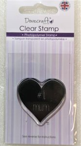 Dovecraft No1 Mum Photopolymer Stamp (small)