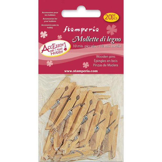 Stamperia Miniature Wooden Pegs - PC13, Craft Shapes & Bases by The Craft House