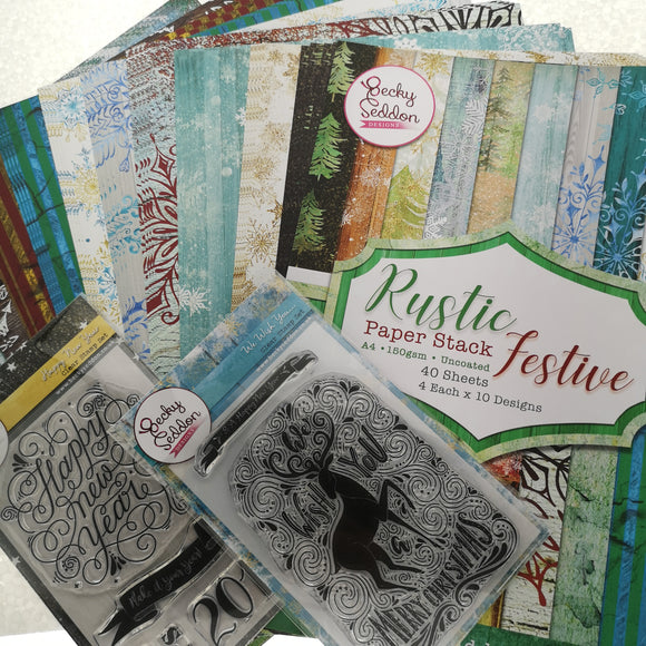 Becky Seddon's Rustic Christmas Pack - Special Offer