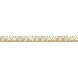 Stamperia Self Adhesive Deco Tape Beige Lace - 1cm by 10M