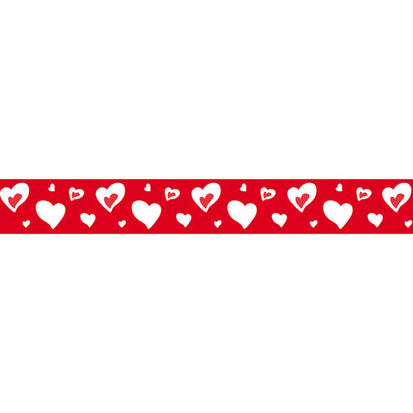 Stamperia Self Adhesive Deco Tape Hearts - 2cm by 10M