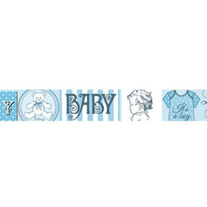 Stamperia Self Adhesive Deco Tape Baby Blue - 2cm by 10M
