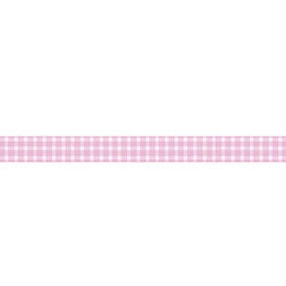 Stamperia Self Adhesive Deco Tape Pink Gingham - 2cm by 10M
