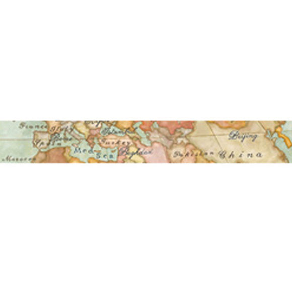 NEW Stamperia Self Adhesive Deco Tape Map - 3cm by 5M