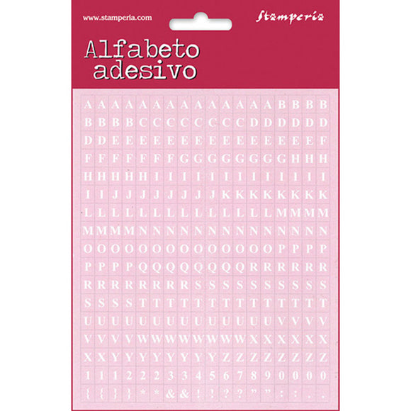 NEW Stamperia  Adhesive Alphabet Letters Pink - 306pcs - DaliART