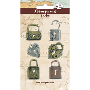 New Stamperia Metal Locks Embellishments