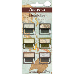 Stamperia Metal Clips Embellishments