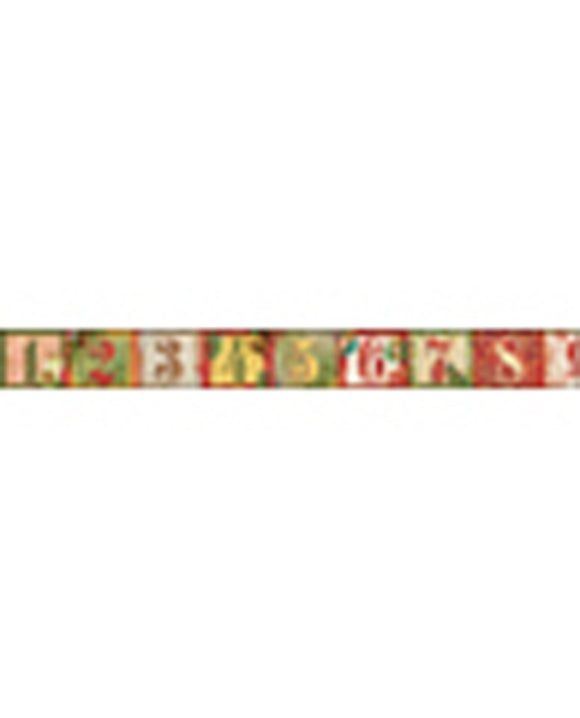 Stamperia Self Adhesive Deco Tape Numbers - 1.5cm by 10M