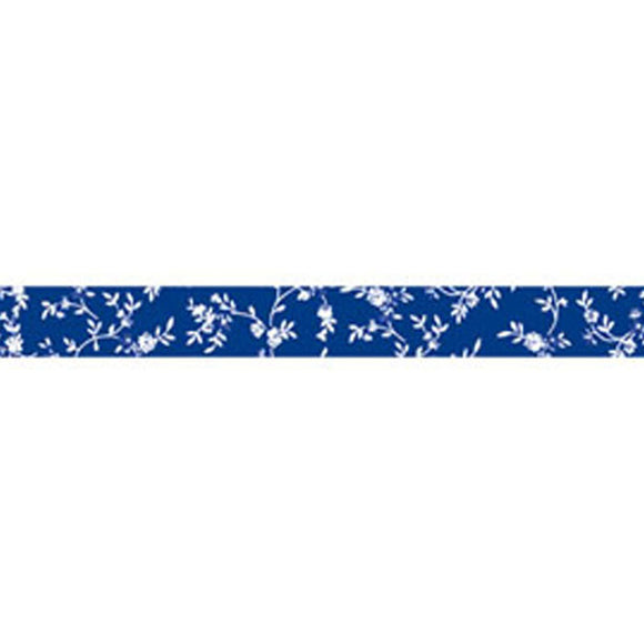 Stamperia Self Adhesive Deco Tape Blue Floral - 1.5cm by 10M