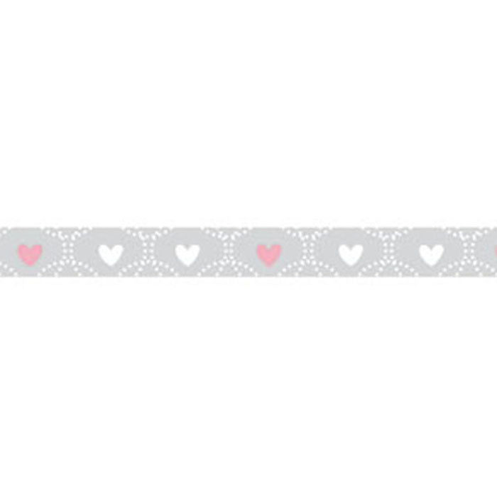 Stamperia Self Adhesive Deco Tape Wedding Hearts - 1cm by 10M