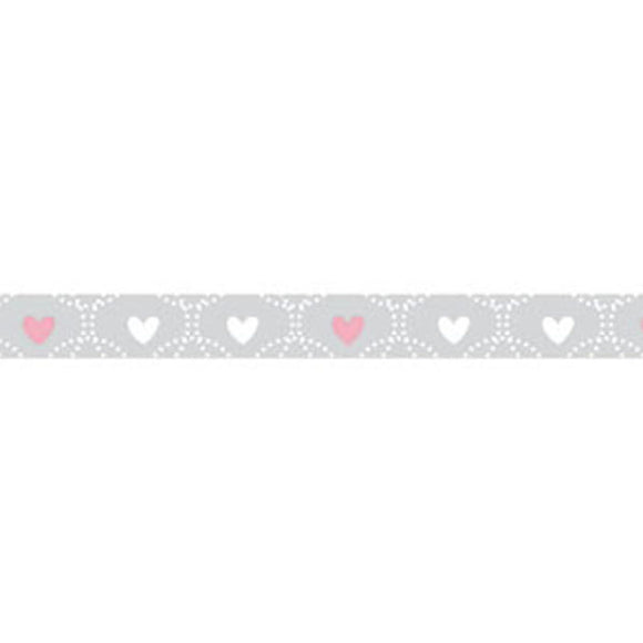 NEW Stamperia Self Adhesive Deco Tape Wedding Hearts - 1cm by 10M