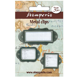 Stamperia Metal Label Tag Embellishments