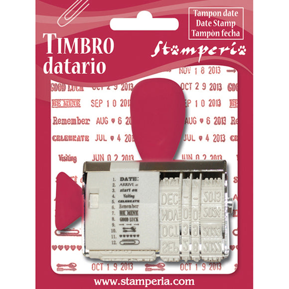 New Stamperia Phrase Date Stamp