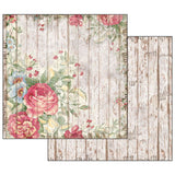 "Super Value Stamperia - Rose & Time Collection  - 12"" x 12"" - 12 sheets/24 designs"