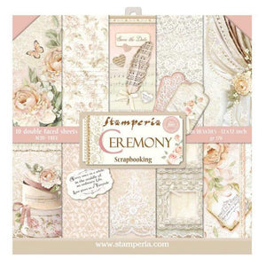 "NEW Stamperia Ceremony Collection - 12"" x 12"" Paper Pad - SBBL42"