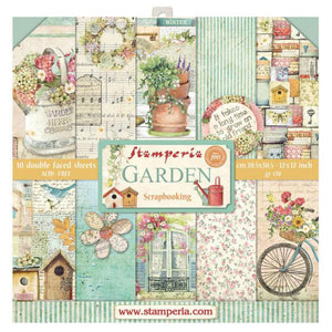 "Stamperia Garden Collection - 12"" x 12"" Paper Pad"