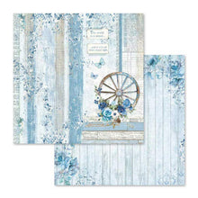 "Load image into Gallery viewer, Stamperia Blue Land - 12"" x 12"" Paper Pad SBBL47"