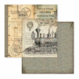 "NEW Stamperia Voyage Fantastiques Collection - 12"" x 12"" Paper Pad SBBL53"